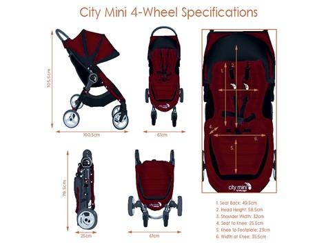 רק החוצה עגלת סיטי מיני 4 גלגלים City Mini 4W - בייבי סתיו מוצרי תינוקות OU-87